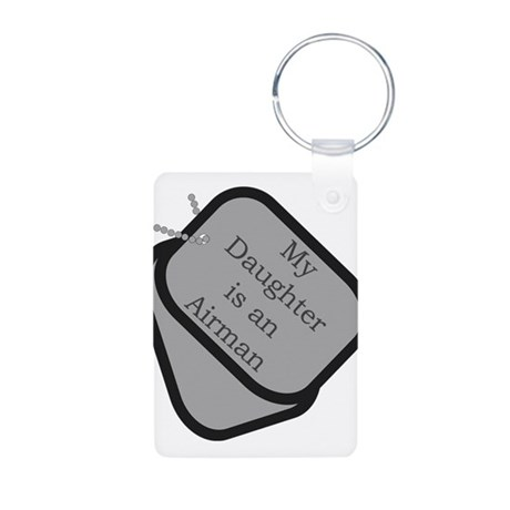 My Daughter is an Airman Aluminum Photo Keychain