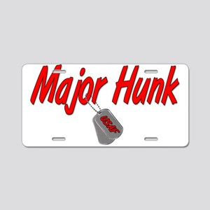USAF Major Hunk Aluminum License Plate
