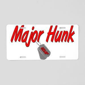 USAF Major Hunk Aluminum License Plate