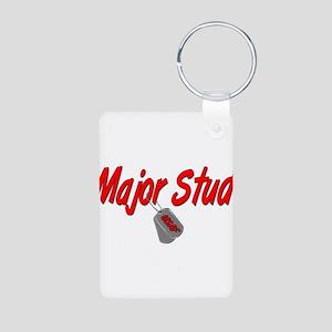 USAF Major Stud Aluminum Photo Keychain