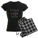 Barbed Wire Proud USAF Wife Women's Dark Pajamas