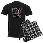 Barbed Wire Proud USAF Wife Men's Dark Pajamas