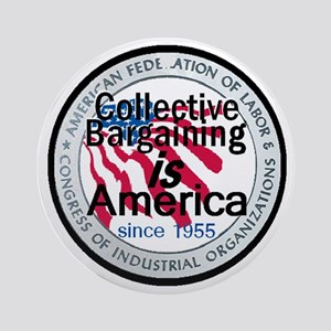 Collective Bargaining Ornament (Round)