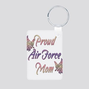 Proud Air Force Mom Aluminum Photo Keychain