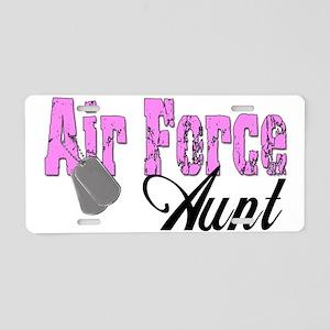 Air Force Aunt Aluminum License Plate
