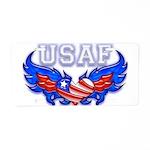USAF Heart Flag Aluminum License Plate