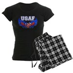 USAF Heart Flag Women's Dark Pajamas