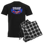 USAF Heart Flag Men's Dark Pajamas