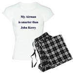 My Airman is smarter than Joh Women's Light Pajama