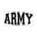 Army Aluminum License Plate
