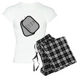 My Son is a Soldier dog tag Women's Light Pajamas