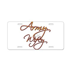 Army Wife Aluminum License Plate