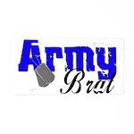 Army Brat ver2 Aluminum License Plate