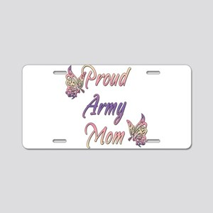 Proud Army Mom Aluminum License Plate