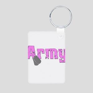 Army Sister Aluminum Photo Keychain