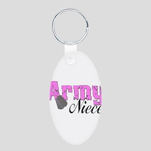 Army Niece Aluminum Oval Keychain