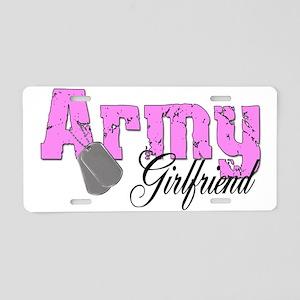 Army Girlfriend Aluminum License Plate