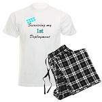 USCG Wife Surviving 1st Deplo Men's Light Pajamas