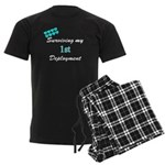 USCG Wife Surviving 1st Deplo Men's Dark Pajamas