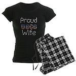 Proud USCG Wife Women's Dark Pajamas