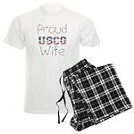 Proud USCG Wife Men's Light Pajamas