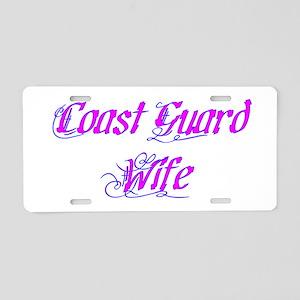 Coast Guard Wife ver2 Aluminum License Plate
