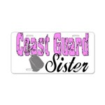 Coast Guard Sister Aluminum License Plate
