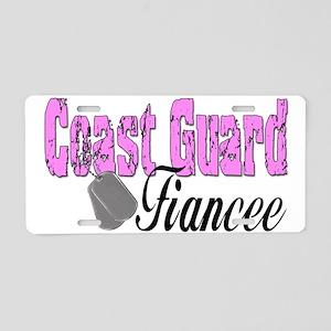 Coast Guard Fiancee Aluminum License Plate