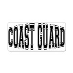 Coast Guard Aluminum License Plate