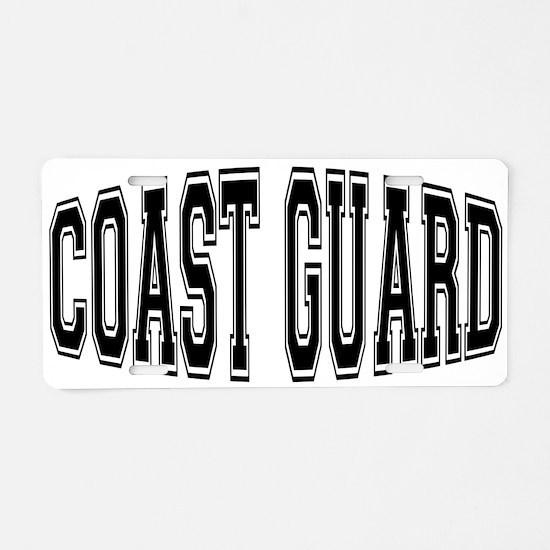 Coast Guard Aluminum License Plate