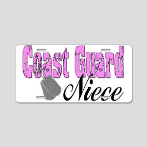 Coast Guard Niece Aluminum License Plate