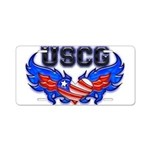 USCG Heart Flag Aluminum License Plate
