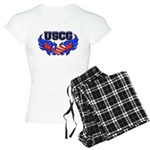 USCG Heart Flag Women's Light Pajamas