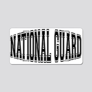 National Guard Aluminum License Plate