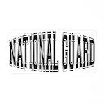 National Guard Aluminum License Plate