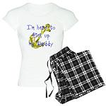 Navy Here to pick up Daddy (b Women's Light Pajama