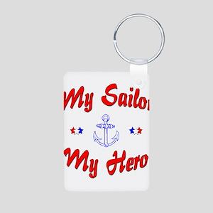 My Sailor My Hero Aluminum Photo Keychain