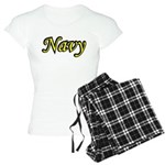 Yellow and Black Navy Women's Light Pajamas