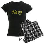 Yellow and Black Navy Women's Dark Pajamas