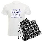 Navy Proud Wife Men's Light Pajamas