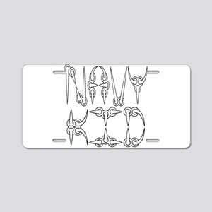 Navy Kid Aluminum License Plate