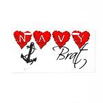 Navy Brat hearts Aluminum License Plate