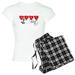 Navy Brat hearts Women's Light Pajamas