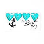 Navy Brat hearts ver2 Aluminum License Plate