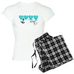 Navy Brat hearts ver2 Women's Light Pajamas