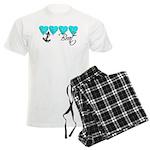 Navy Brat hearts ver2 Men's Light Pajamas