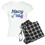 Navy Baby blue anchor Women's Light Pajamas