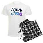 Navy Baby blue anchor Men's Light Pajamas