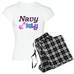 Navy Baby pink anchor Women's Light Pajamas