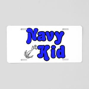 Navy Kid (blue) Aluminum License Plate